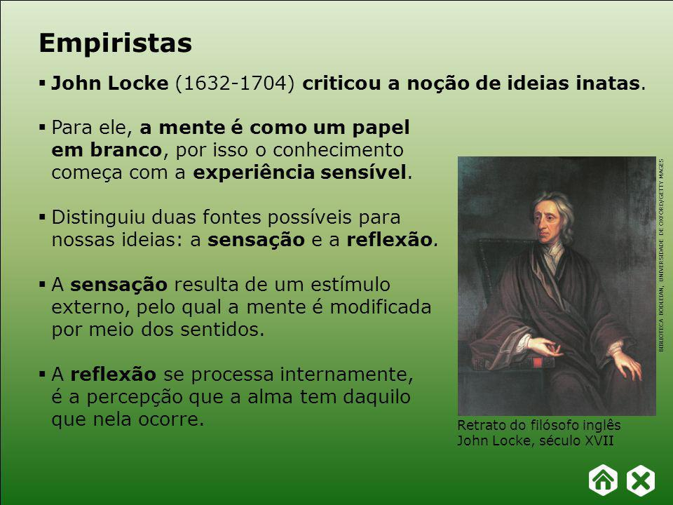 Empiristas John Locke (1632-1704) criticou a noção de ideias inatas.