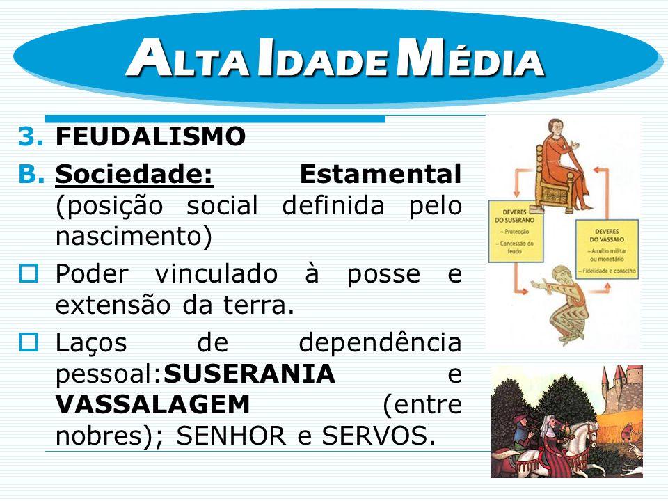 ALTA IDADE MÉDIA FEUDALISMO