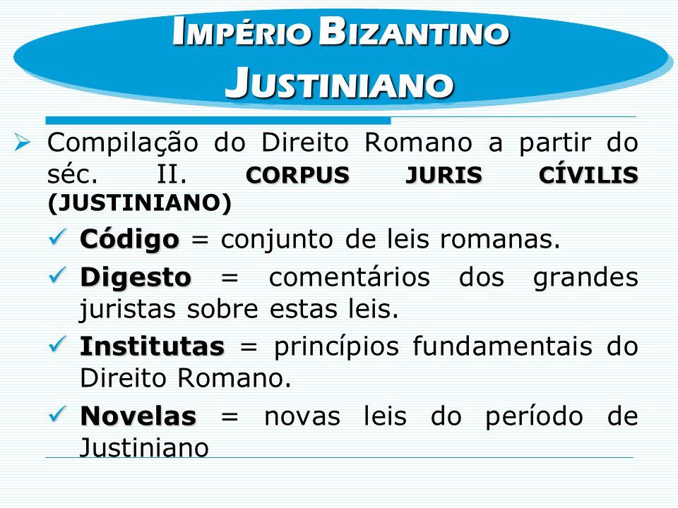 JUSTINIANO IMPÉRIO BIZANTINO