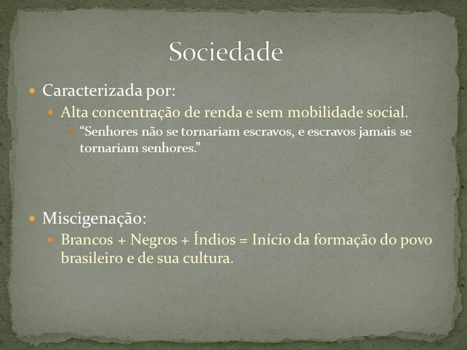 Sociedade Caracterizada por: Miscigenação: