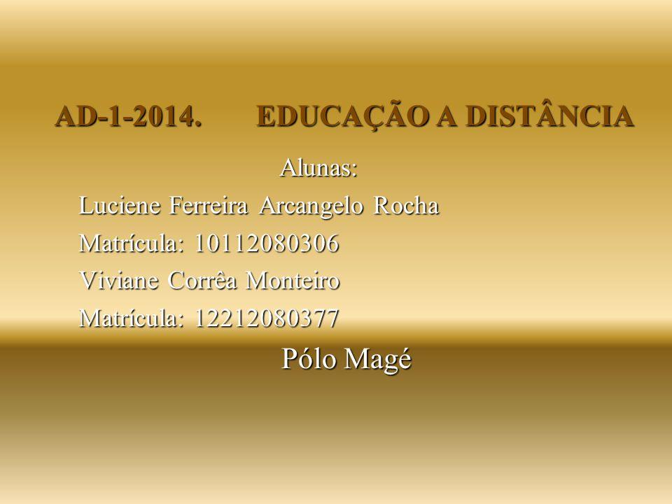AD-1-2014. EDUCAÇÃO A DISTÂNCIA