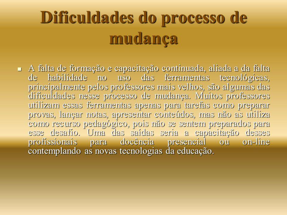 Dificuldades do processo de mudança