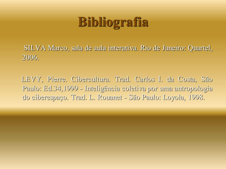 Bibliografia SILVA Marco, sala de aula interativa. Rio de Janeiro: Quartel, 2006.