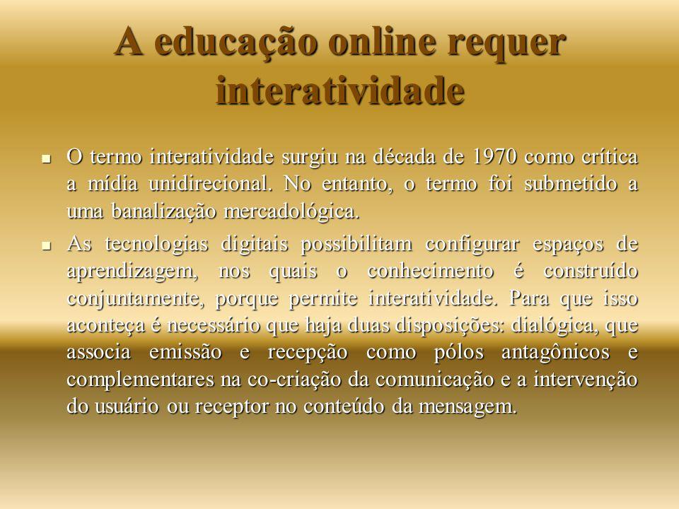 A educação online requer interatividade