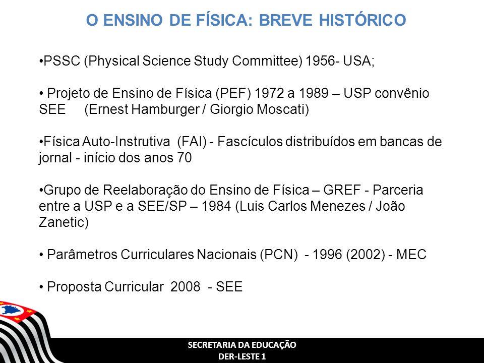 O ENSINO DE FÍSICA: BREVE HISTÓRICO SECRETARIA DA EDUCAÇÃO