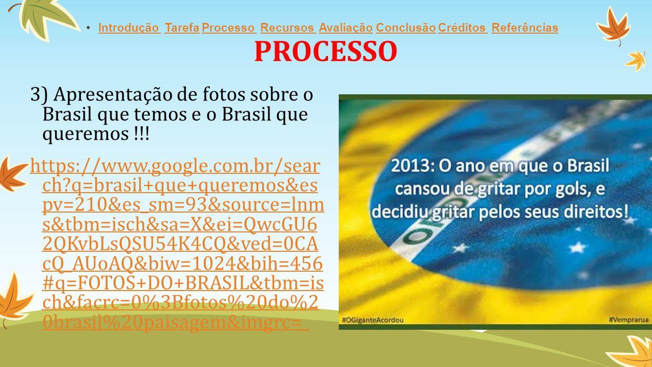 PROCESSO Introdução Tarefa Processo Recursos Avaliação Conclusão Créditos Referências.