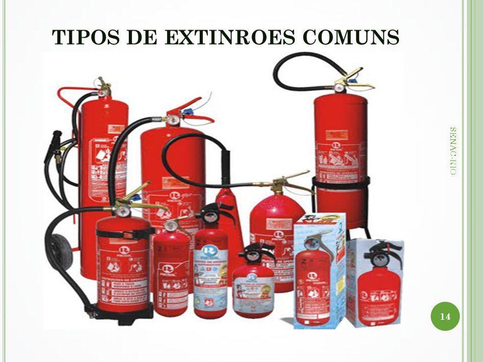 TIPOS DE EXTINROES COMUNS