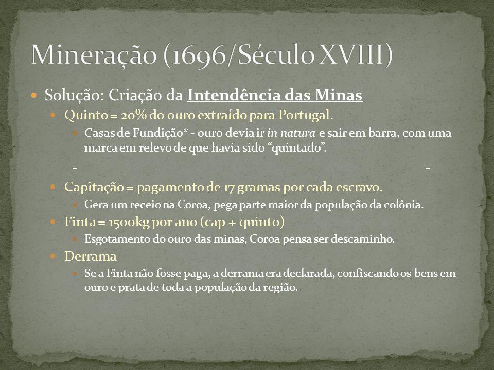 Mineração (1696/Século XVIII)