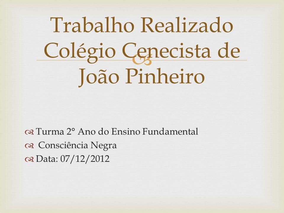 Trabalho Realizado Colégio Cenecista de João Pinheiro