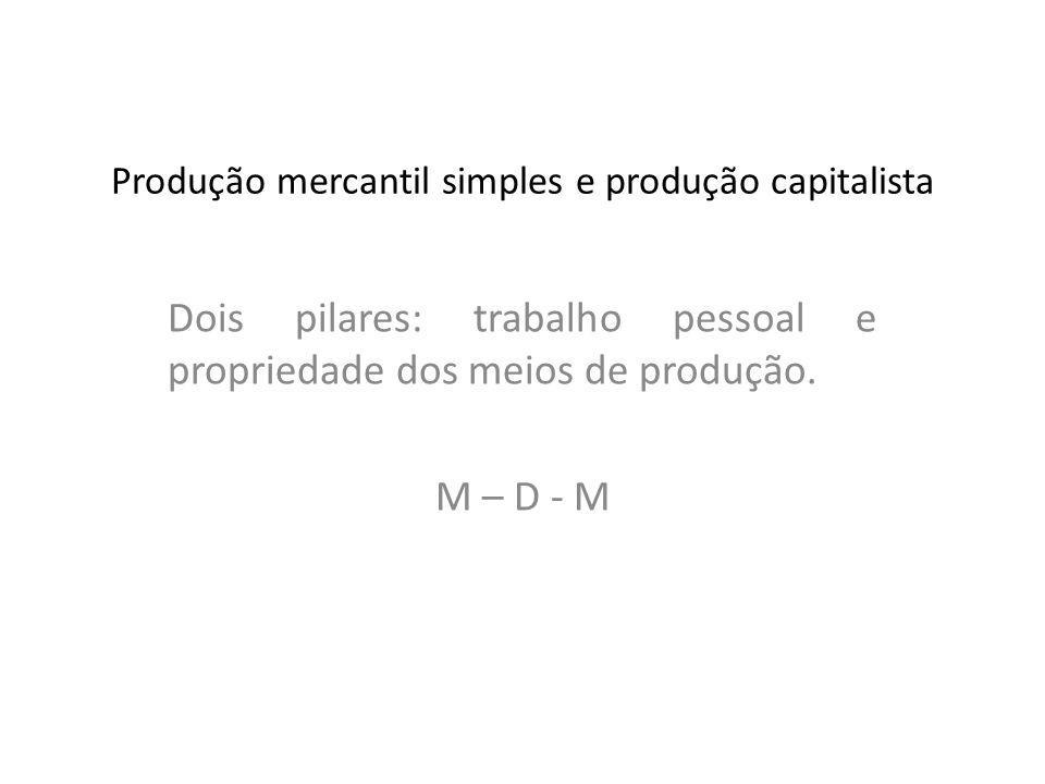 Produção mercantil simples e produção capitalista