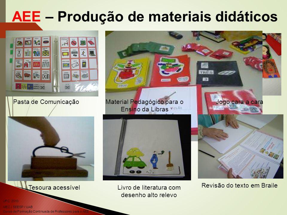AEE – Produção de materiais didáticos