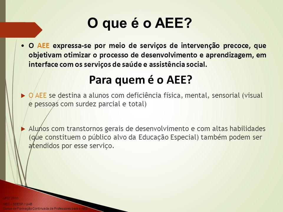 O que é o AEE Para quem é o AEE