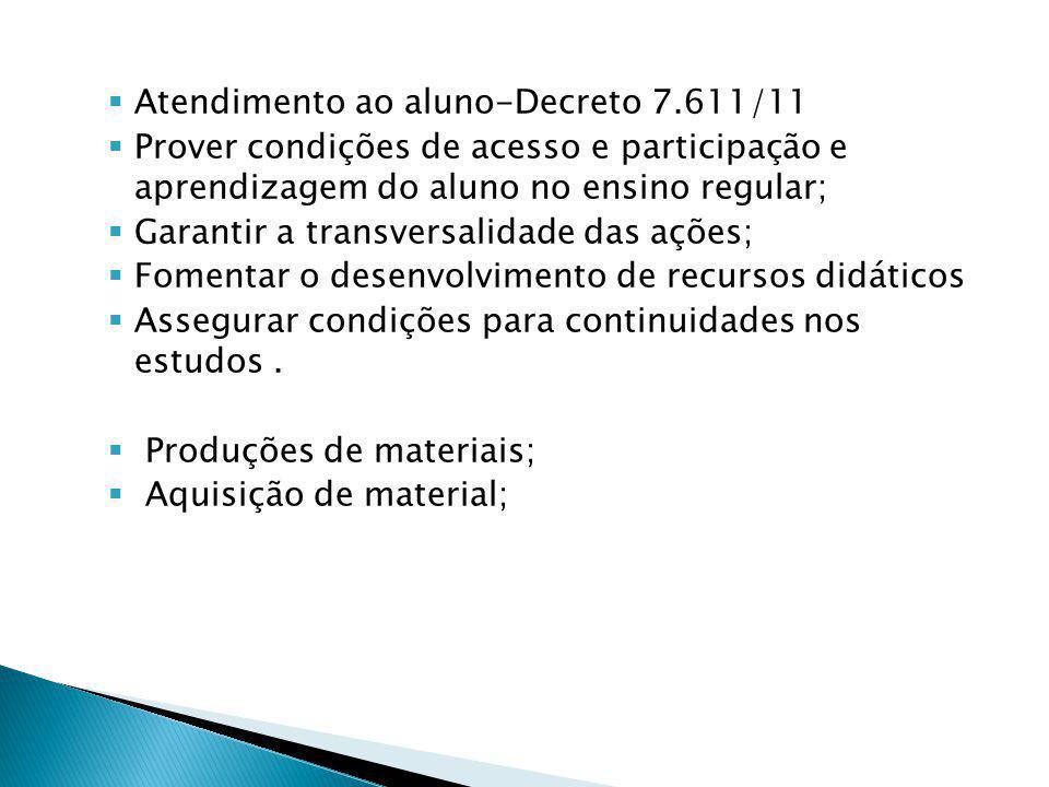 Atendimento ao aluno-Decreto 7.611/11