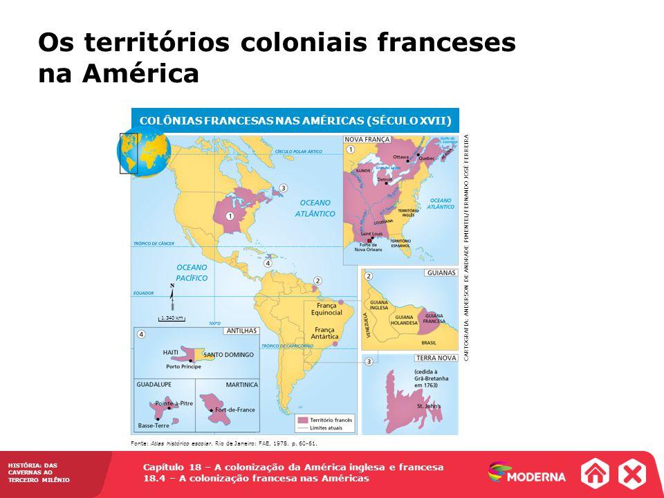 COLÔNIAS FRANCESAS NAS AMÉRICAS (SÉCULO XVII)