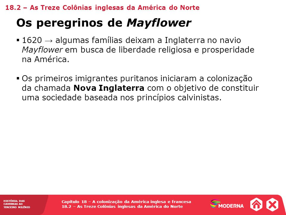 Os peregrinos de Mayflower