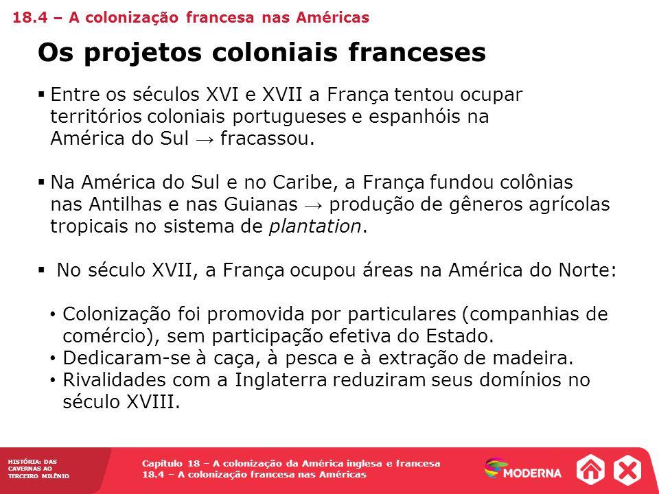 Os projetos coloniais franceses