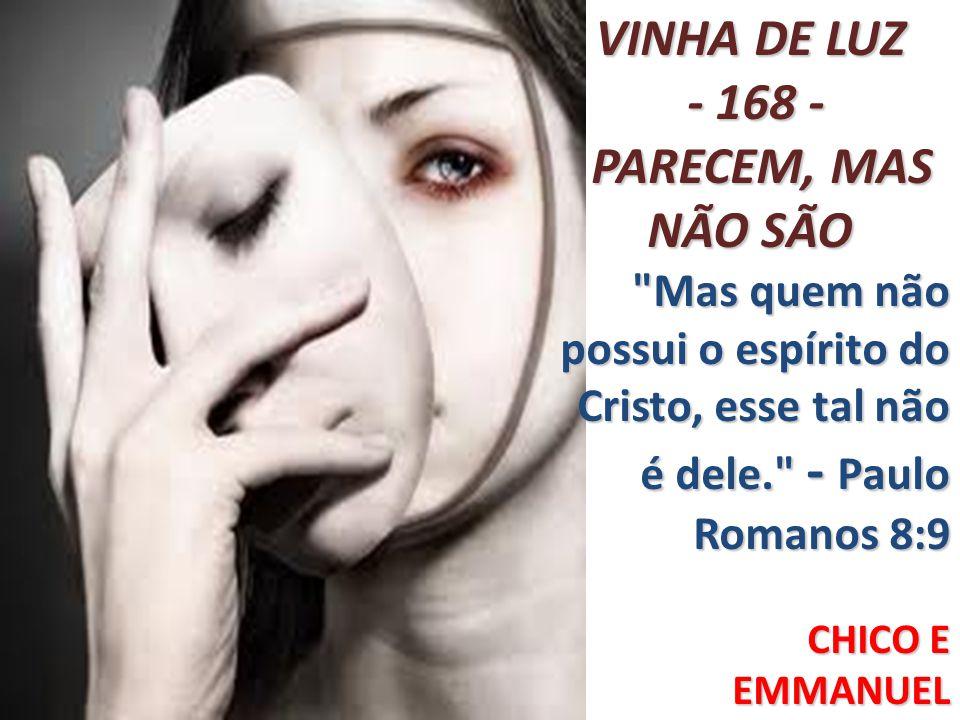 VINHA DE LUZ - 168 - PARECEM, MAS NÃO SÃO