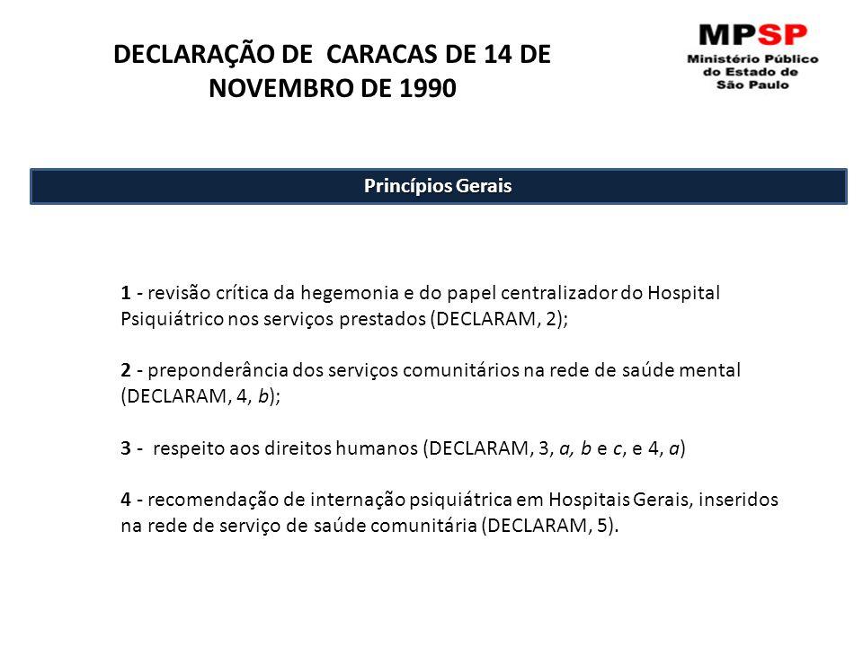 DECLARAÇÃO DE CARACAS DE 14 DE NOVEMBRO DE 1990