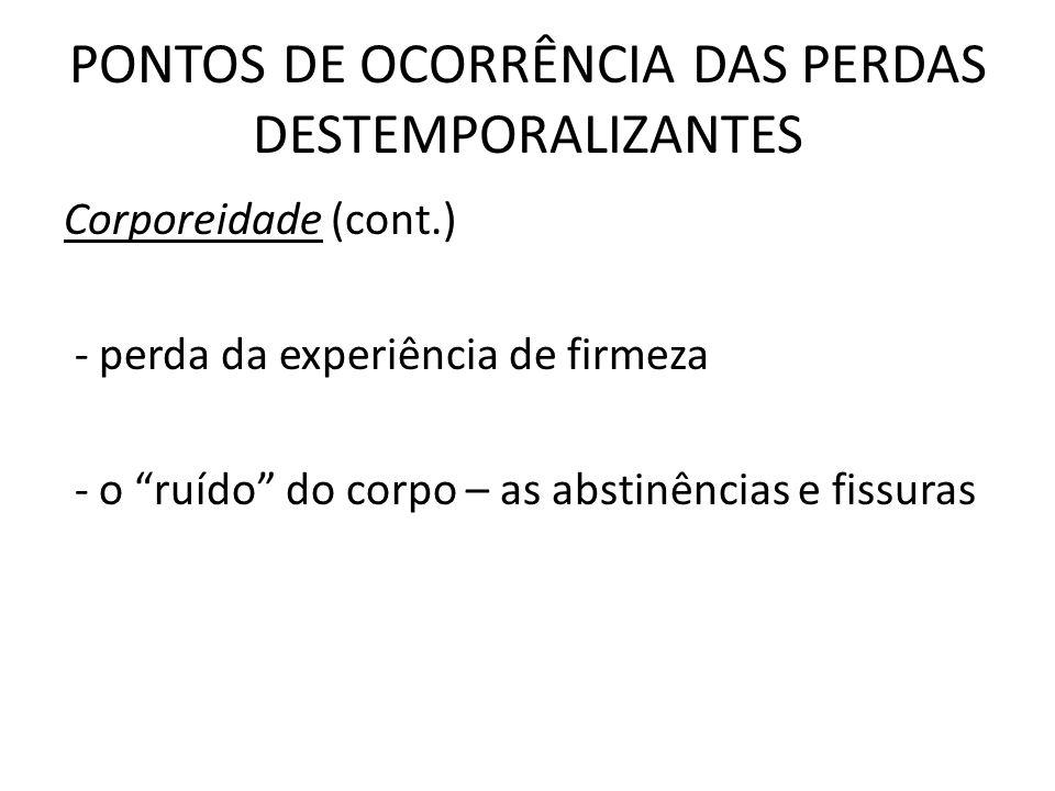 PONTOS DE OCORRÊNCIA DAS PERDAS DESTEMPORALIZANTES