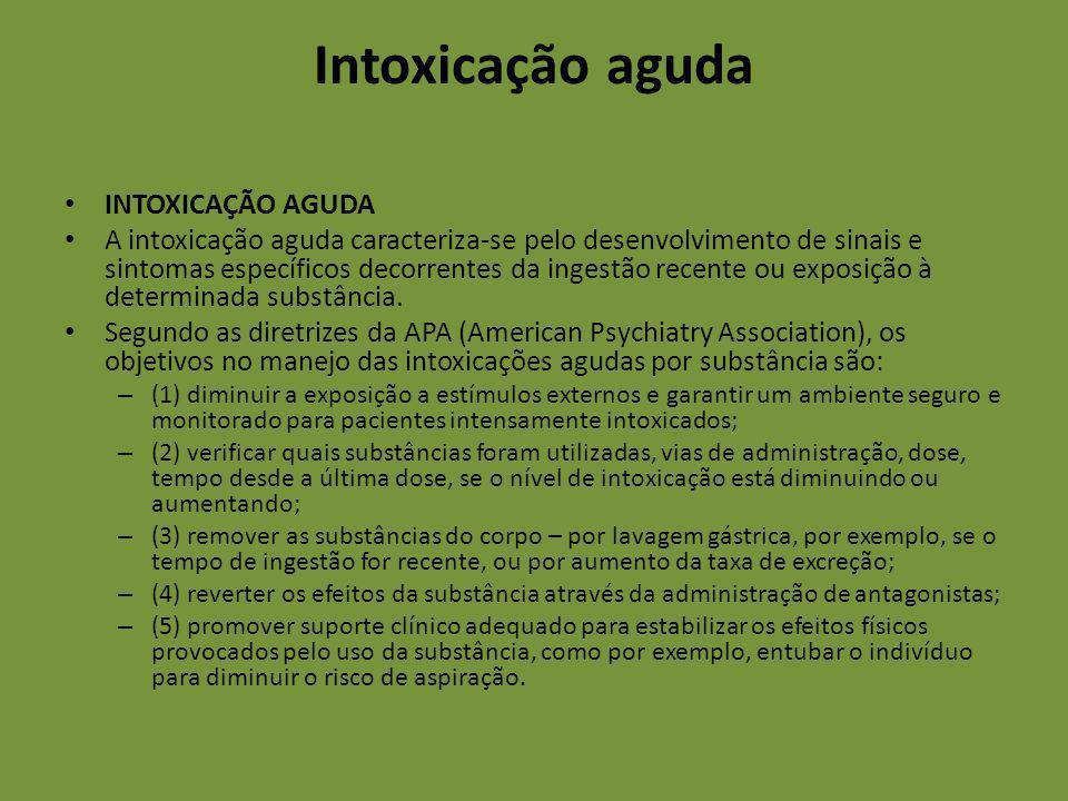 Intoxicação aguda INTOXICAÇÃO AGUDA