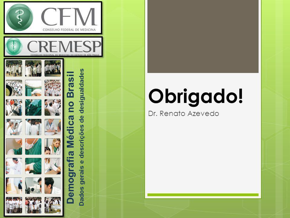 Demografia Médica no Brasil Dados gerais e descrições de desigualdades