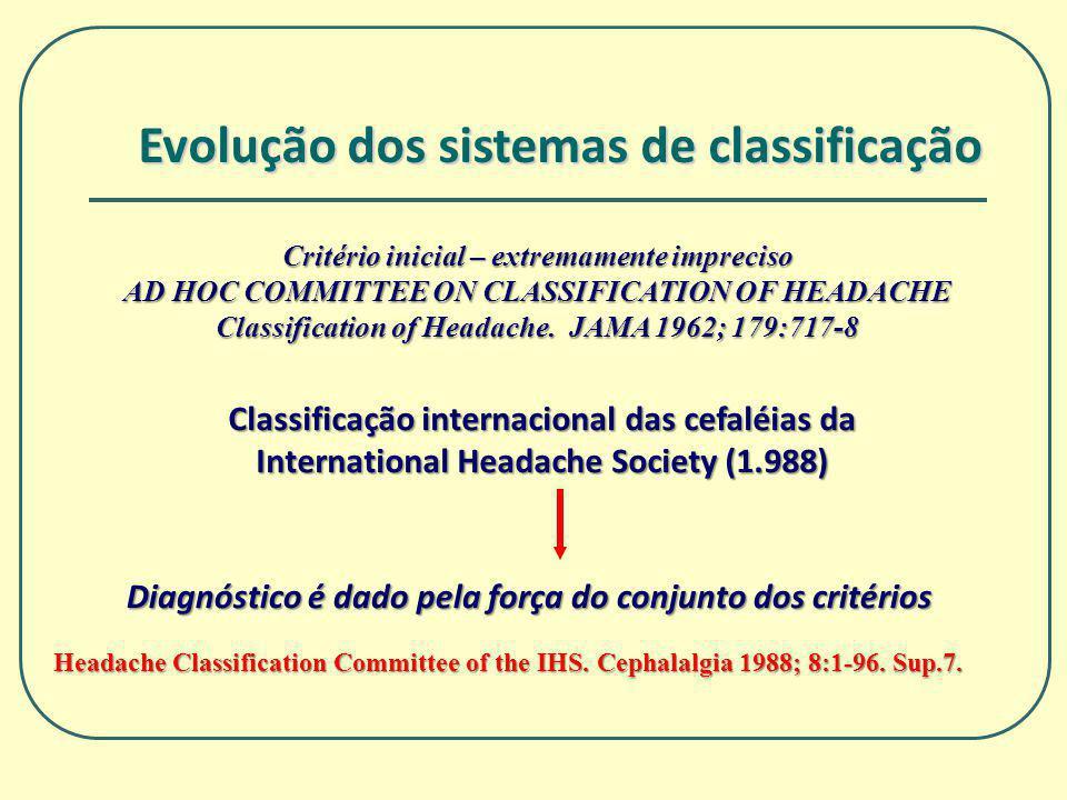 Evolução dos sistemas de classificação
