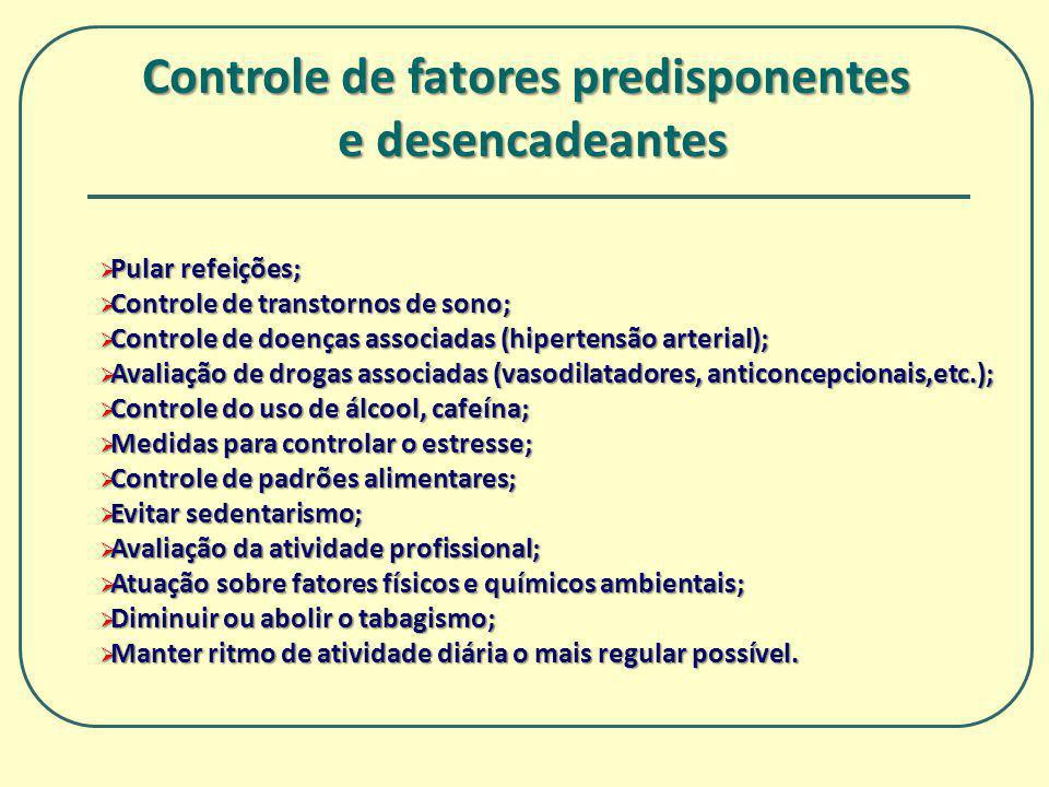 Controle de fatores predisponentes