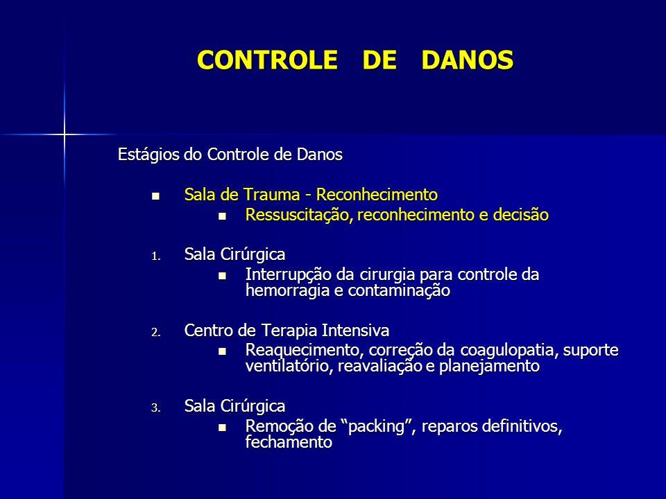 CONTROLE DE DANOS Estágios do Controle de Danos