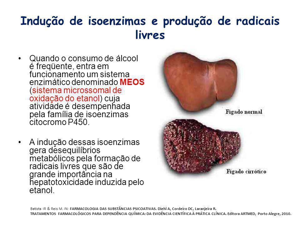 Indução de isoenzimas e produção de radicais livres