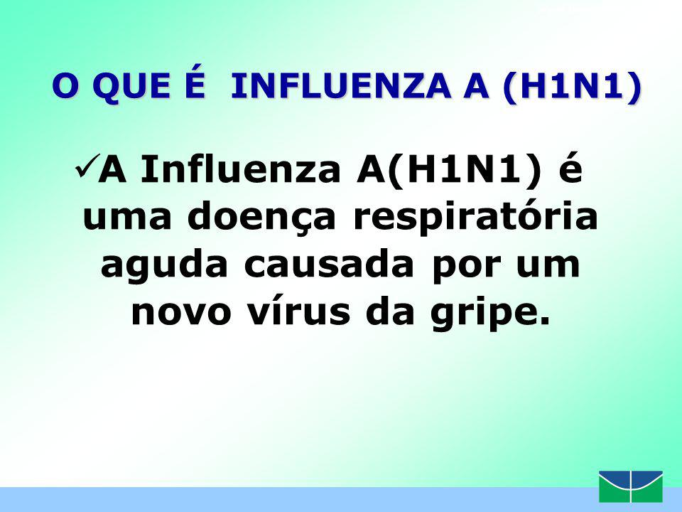 www.themegallery.com O QUE É INFLUENZA A (H1N1) A Influenza A(H1N1) é uma doença respiratória aguda causada por um novo vírus da gripe.