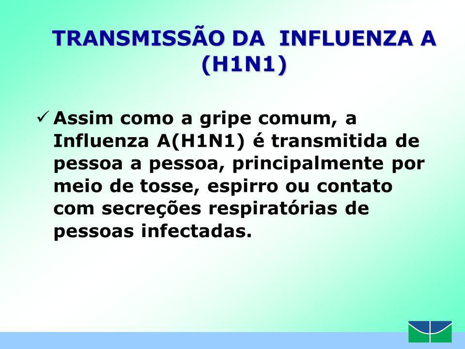 TRANSMISSÃO DA INFLUENZA A (H1N1)