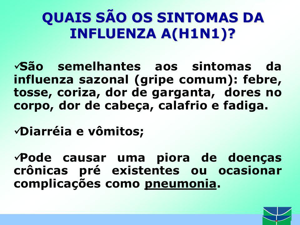 QUAIS SÃO OS SINTOMAS DA INFLUENZA A(H1N1)