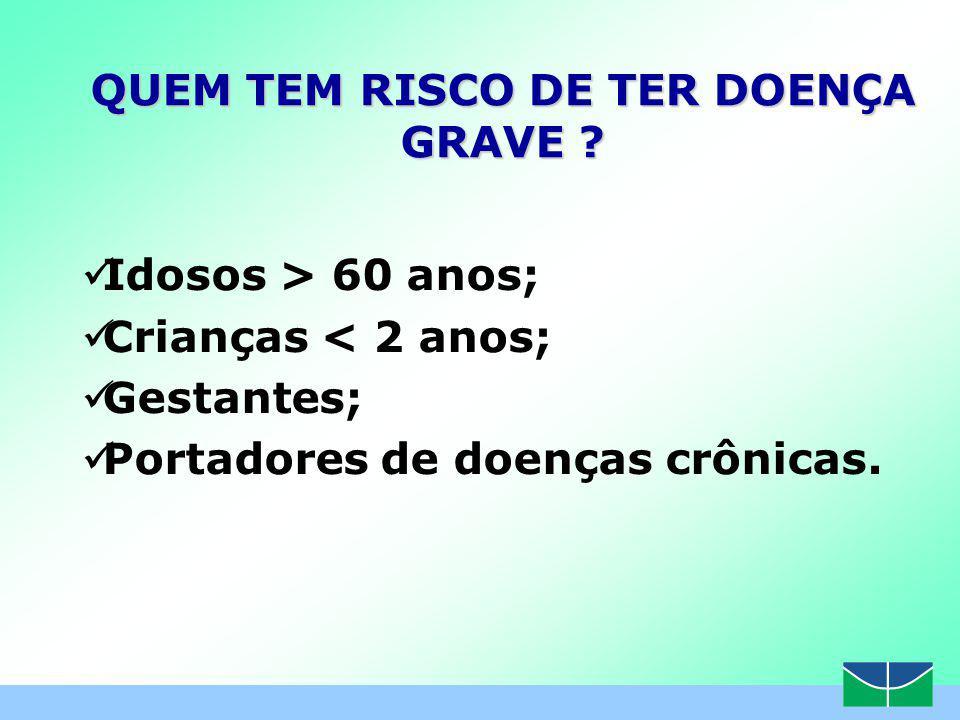 QUEM TEM RISCO DE TER DOENÇA GRAVE
