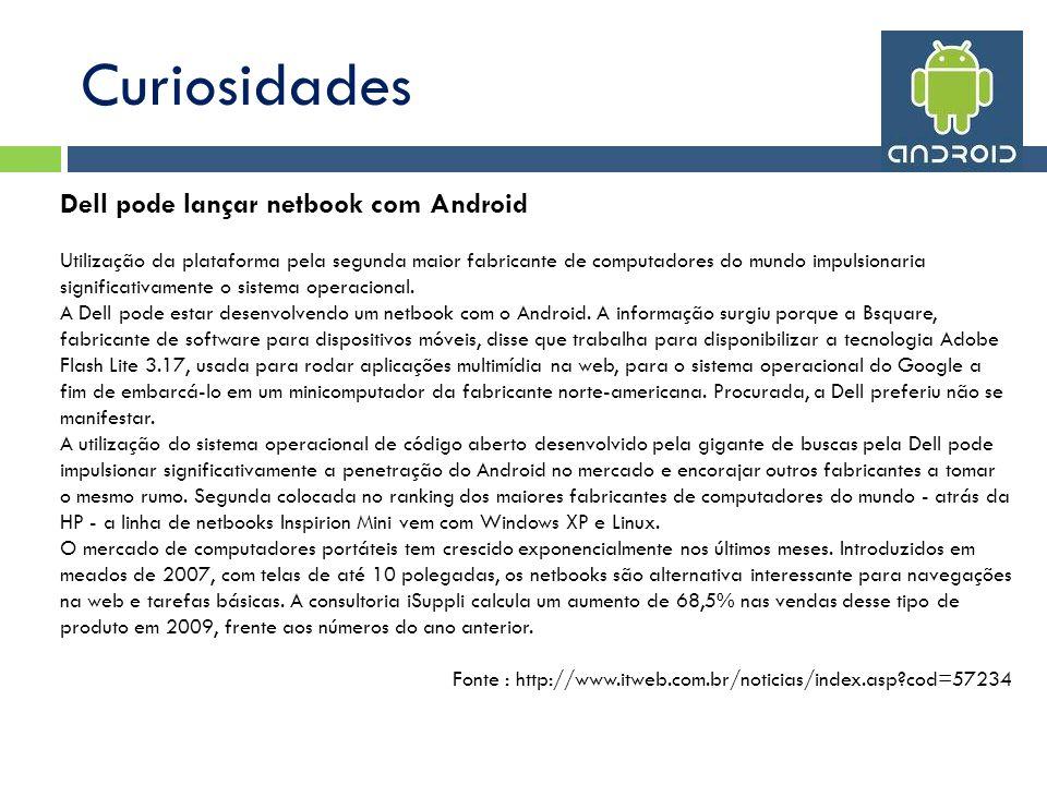 Curiosidades Dell pode lançar netbook com Android