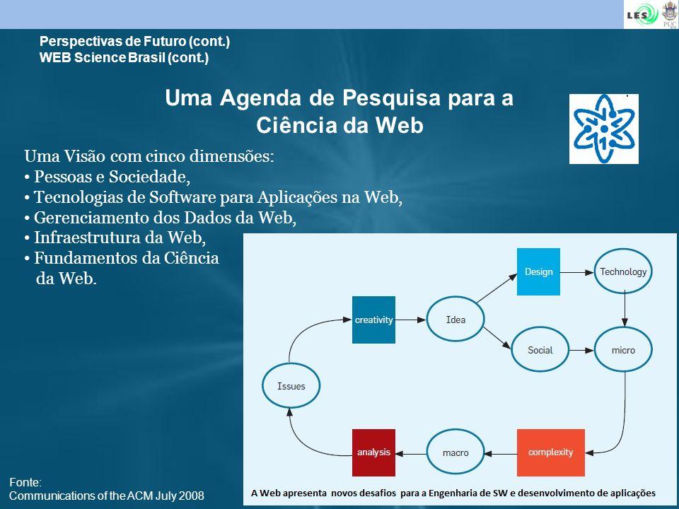 Uma Agenda de Pesquisa para a Ciência da Web