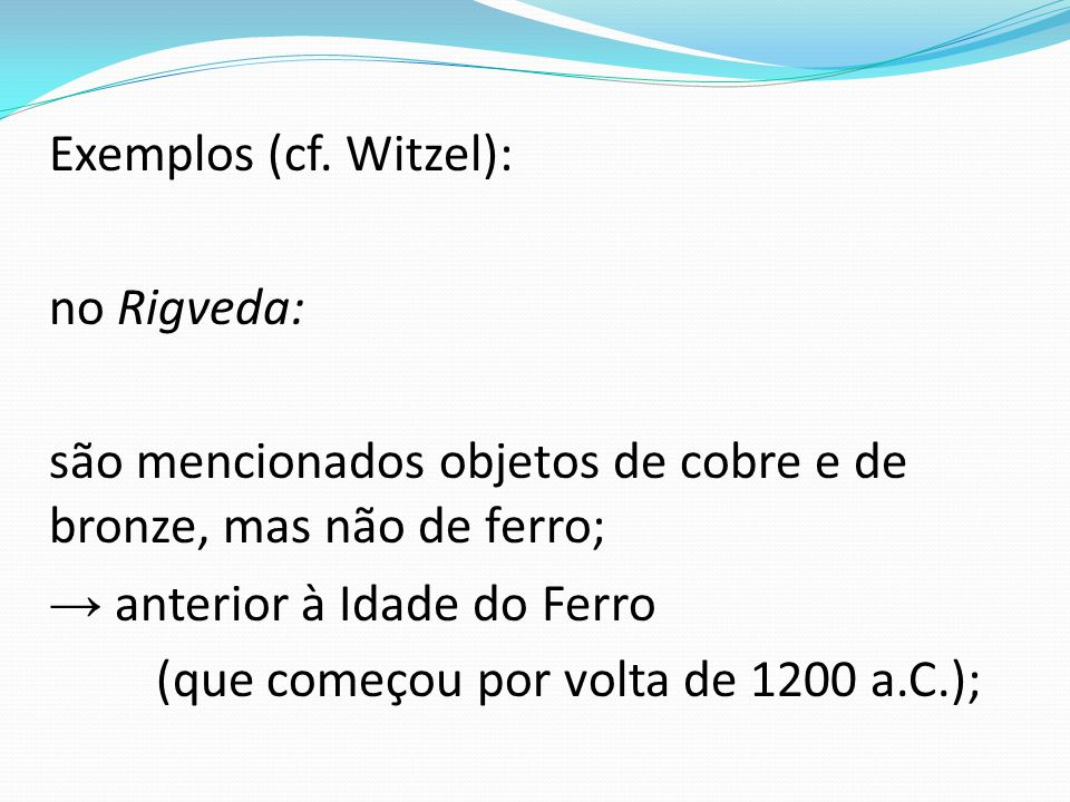 Exemplos (cf.