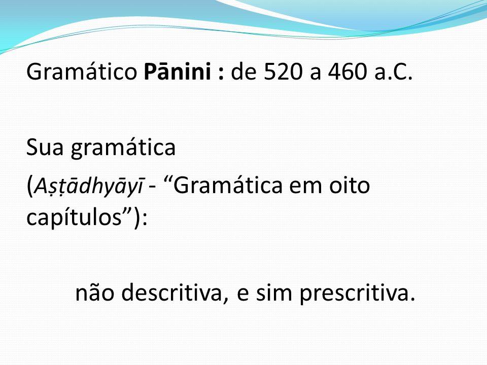 Gramático Pānini : de 520 a 460 a. C