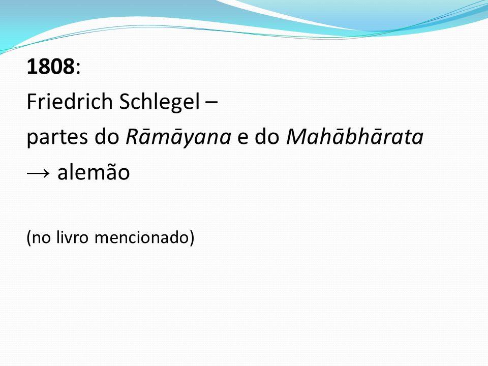 partes do Rāmāyana e do Mahābhārata → alemão