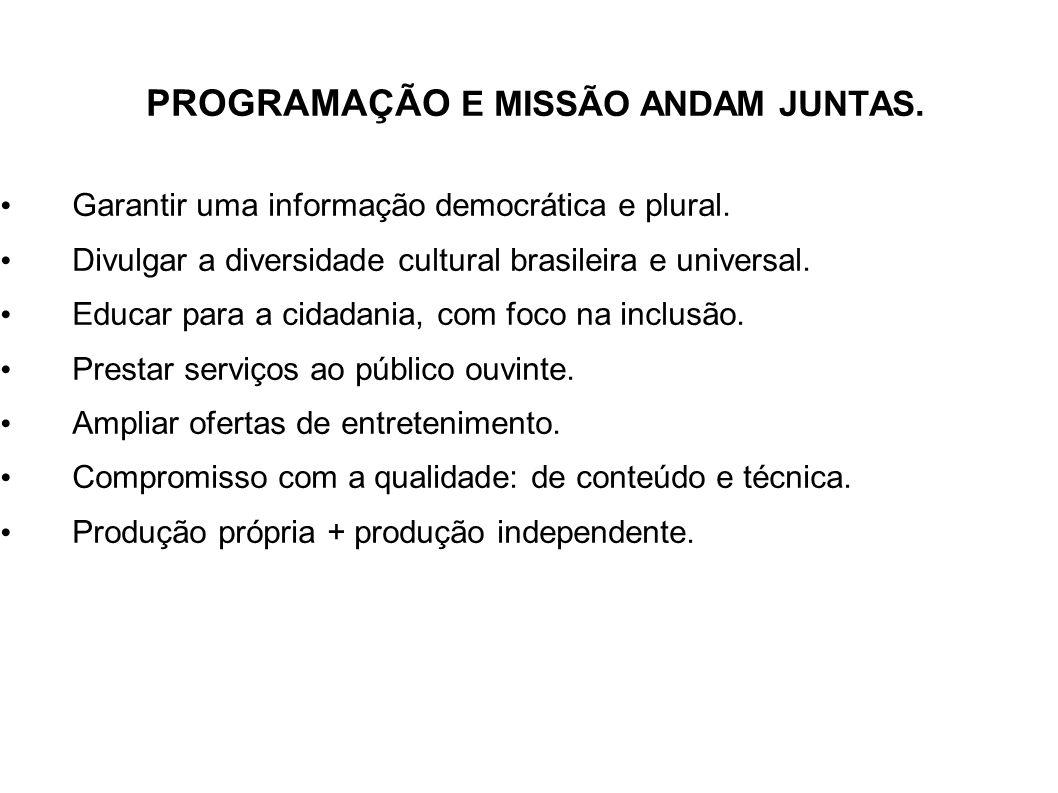 PROGRAMAÇÃO E MISSÃO ANDAM JUNTAS.