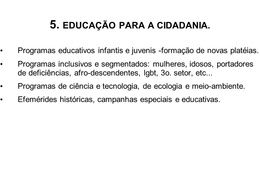 5. EDUCAÇÃO PARA A CIDADANIA.
