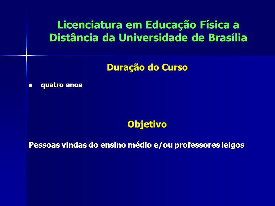 Licenciatura em Educação Física a Distância da Universidade de Brasília