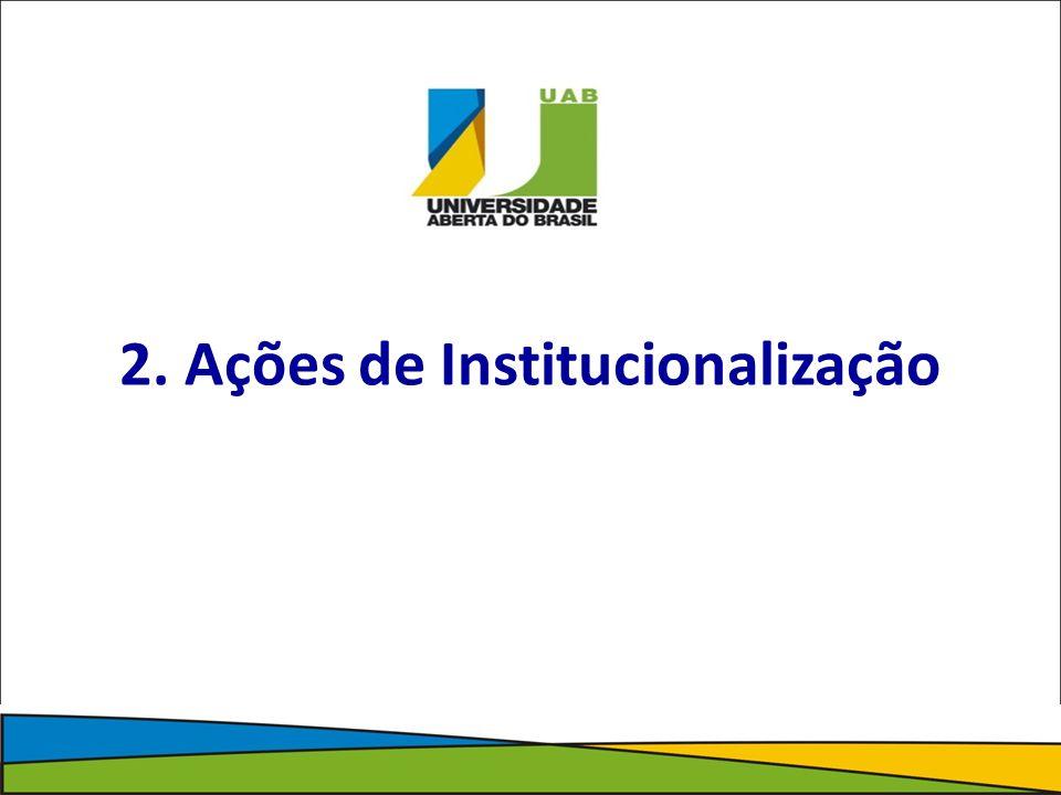 2. Ações de Institucionalização