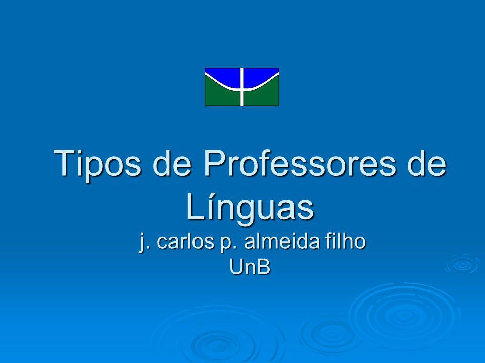 Tipos de Professores de Línguas j. carlos p. almeida filho UnB