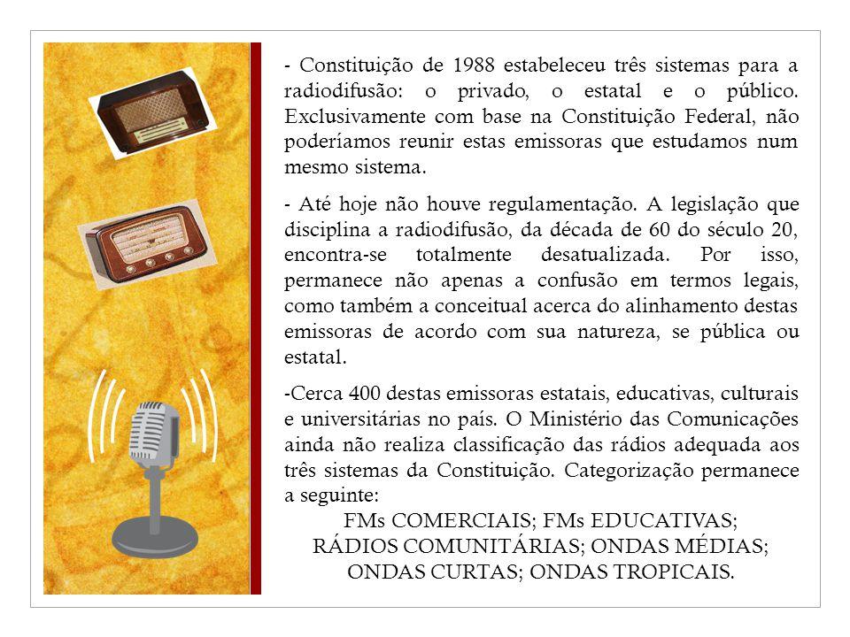 FMs COMERCIAIS; FMs EDUCATIVAS;