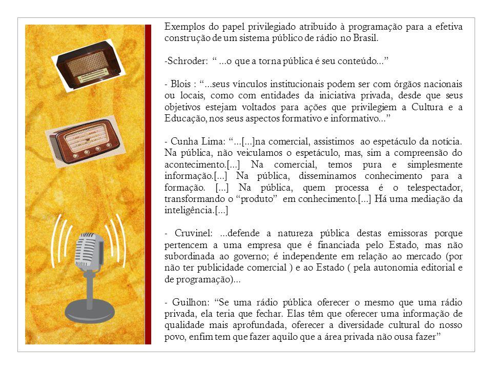 Schroder: ...o que a torna pública é seu conteúdo...