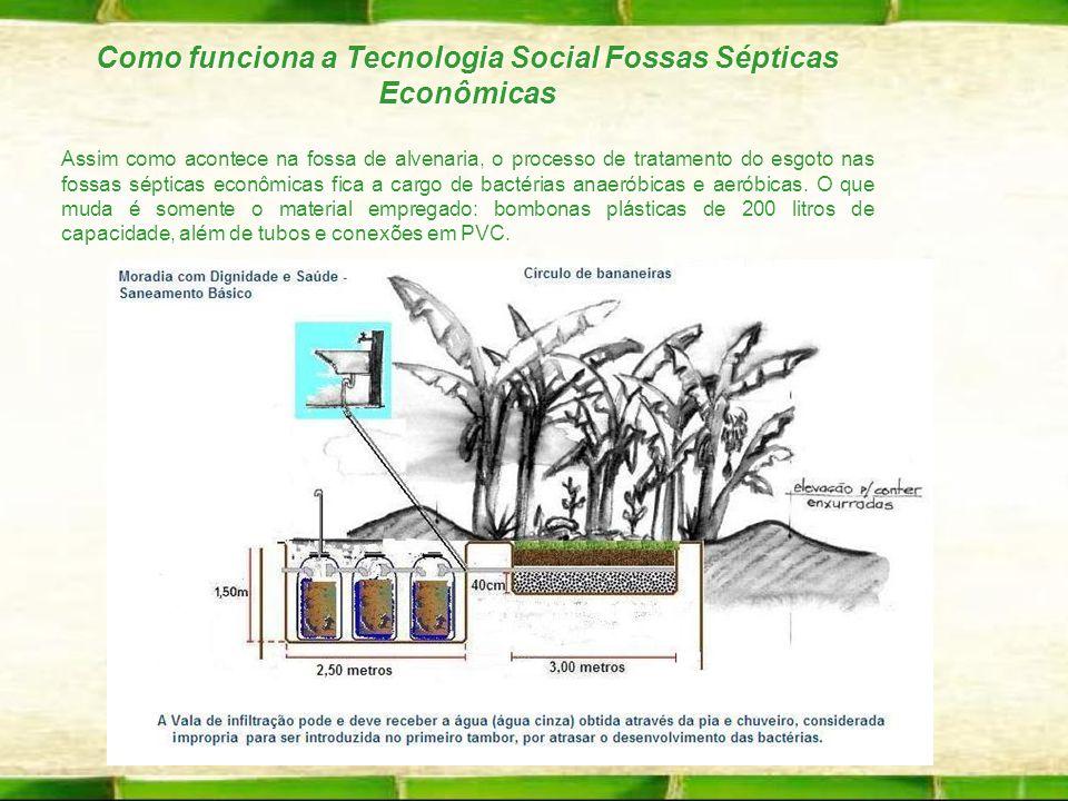Como funciona a Tecnologia Social Fossas Sépticas Econômicas