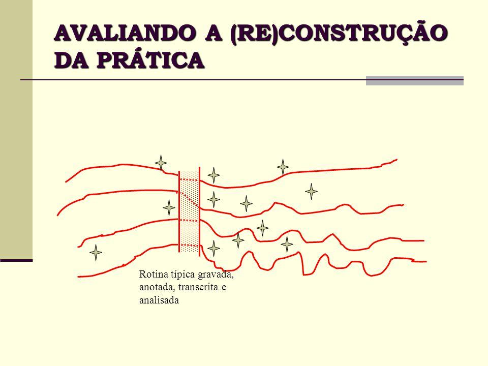 AVALIANDO A (RE)CONSTRUÇÃO DA PRÁTICA
