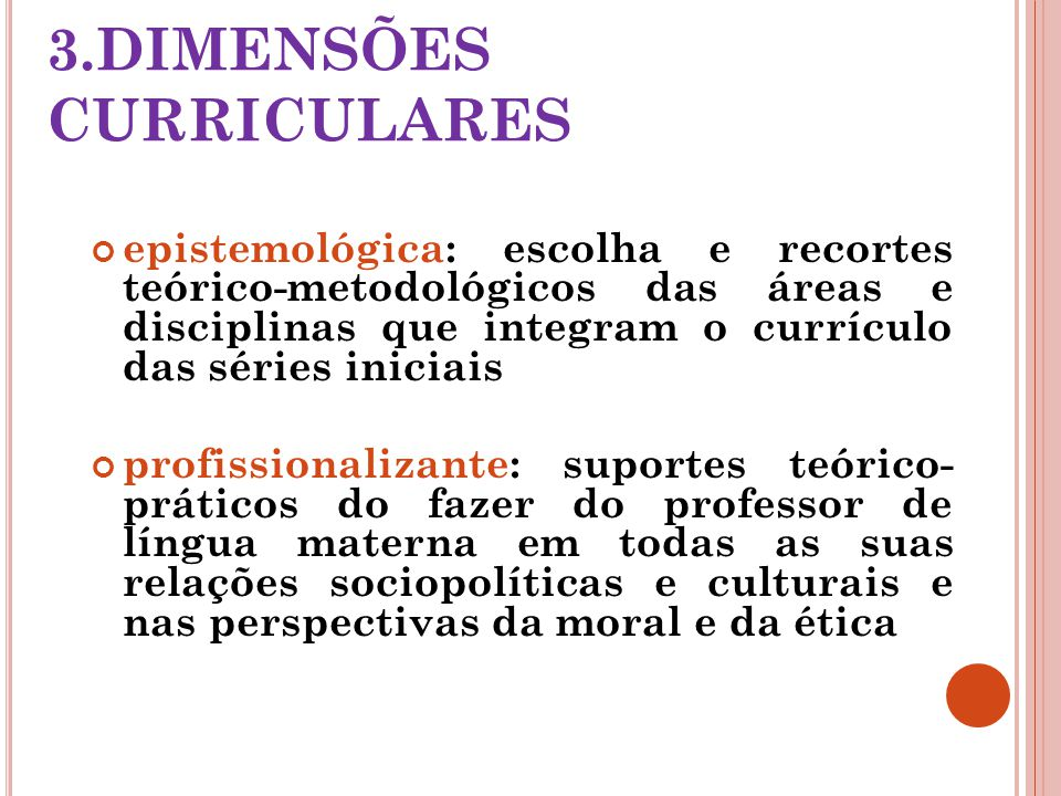 3.DIMENSÕES CURRICULARES