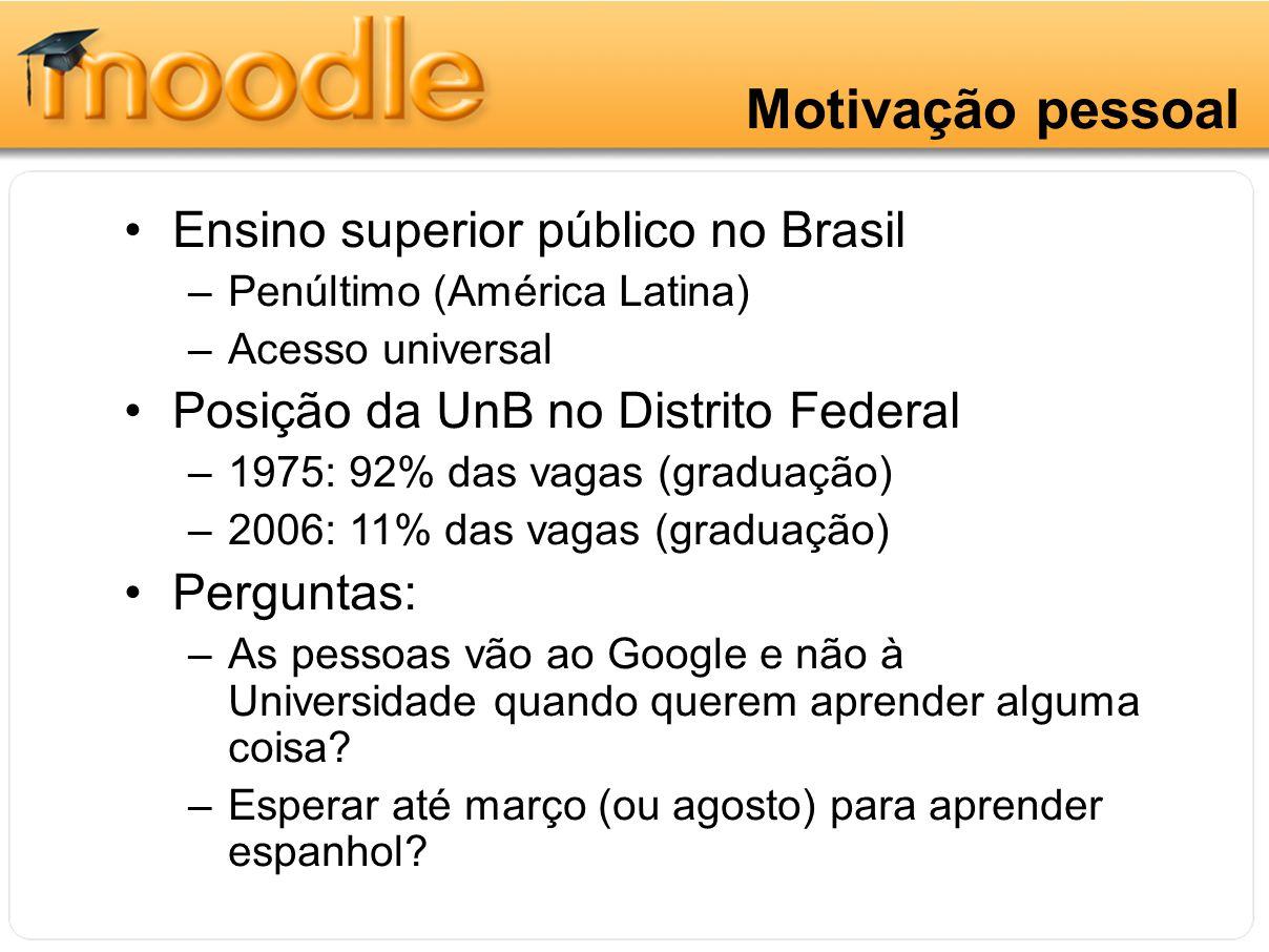 Motivação pessoal Ensino superior público no Brasil