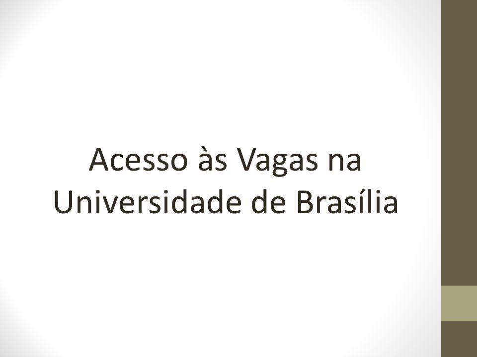 Acesso às Vagas na Universidade de Brasília